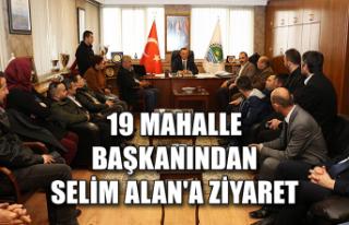 19 mahalle başkanından Selim Alan'a ziyaret