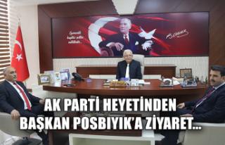 Ak Parti heyetinden başkan Posbıyık'a ziyaret...