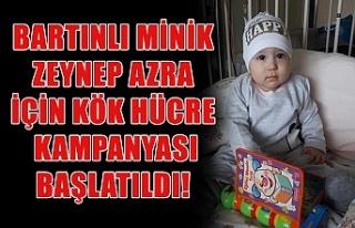 Bartınlı minik Zeynep Azra için kök hücre kampanyası