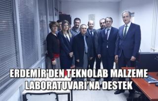 Erdemir'den Teknolab Malzeme Laboratuvarı'na...