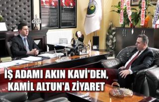 İş adamı Akın Kavi'den, Kamil Altun'a...