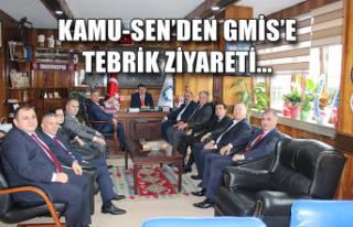 Kamu-Sen'den GMİS'e tebrik ziyareti...