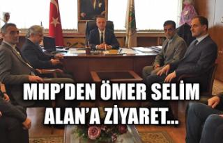 MHP'den Ömer Selim Alan'a ziyaret...