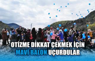 Otizme dikkat çekmek için Mavi balon uçurdular