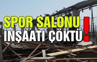 Spor salonu inşaatı çöktü! Dört işçi yaralı…