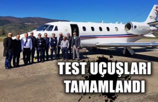 Test uçuşları tamamlandı...
