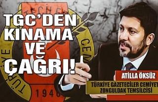 TGC'den kınama ve çağrı!