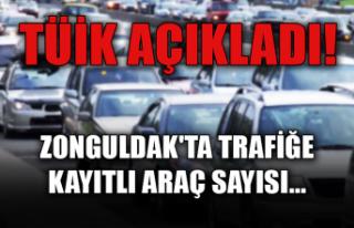 TÜİK açıkladı! Zonguldak'ta trafiğe kayıtlı...