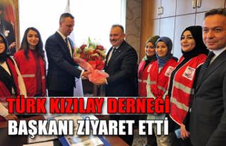 Türk Kızılay Derneği, Başkanı ziyaret etti...