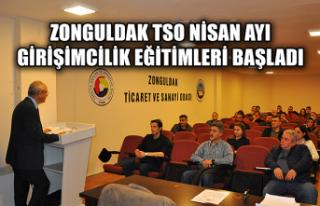 Zonguldak TSO Nisan ayı girişimcilik eğitimleri...