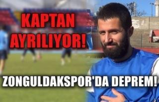 Zonguldakspor'da Deprem! Kaptan ayrılıyor!