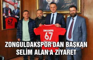 Zonguldakspor'dan Başkan Selim Alan'a ziyaret...