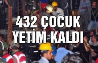 432 çocuk yetim kaldı