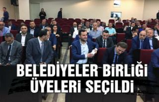Belediyeler Birliği üyeleri seçildi