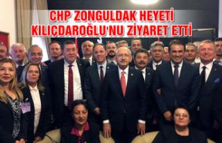 CHP Zonguldak heyeti Kılıçdaroğlu'nu ziyaret...