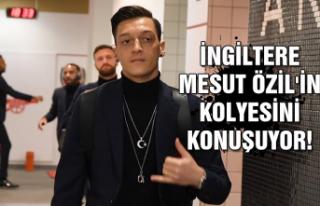 İngiltere Mesut Özil'in kolyesini konuşuyor!