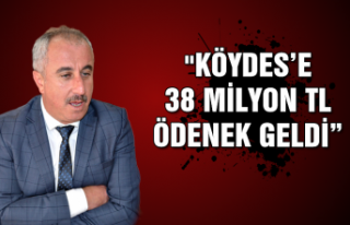 """Karaveli: """" KÖYDES'e 38 milyon TL ödenek geldi"""""""