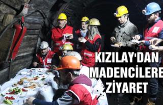 Kızılay'dan madencilere ziyaret...