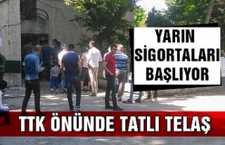 Türkiye Taşkömürü Kurumu önünde tatlı telaş