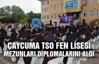 Çaycuma TSO Fen Lisesi mezunları diplomalarını...