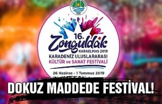 Dokuz maddede festival!