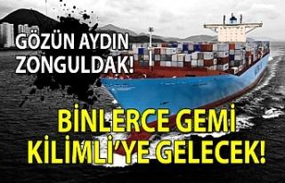 Gözün aydın Zonguldak! Binlerce gemi Kilimli'ye...
