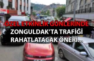 Özel etkinlik günlerinde Zonguldak'ta trafiği...