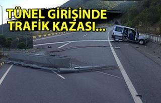 Tünel girişinde kaza...