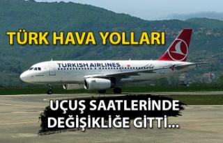 Türk Hava Yolları uçuş saatlerinde değişikliğe...