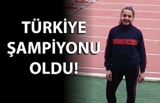 Türkiye şampiyonu oldu!