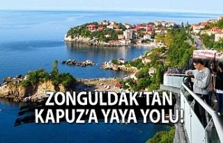 Zonguldak'tan Kapuz'a yaya yolu!