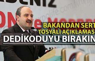 Bakan Varank: ''Tosyalı'yı yönetici...