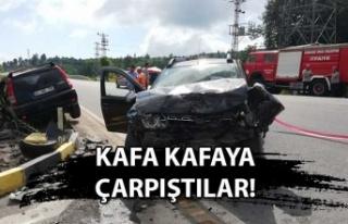Kandilli sapağında kaza: 2 yaralı