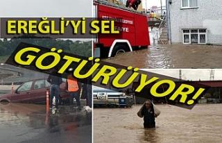 Kdz. Ereğli'de sağanak yağış felakete dönüştü