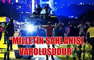 """Miiletvekili Polat Türkmen; """"Milletin şahlanışı,..."""