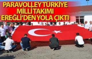 Paravolley Türkiye Milli Takımı Ereğli'den yola...