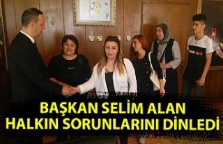 Başkan Selim Alan, halkın sorunlarını dinledi