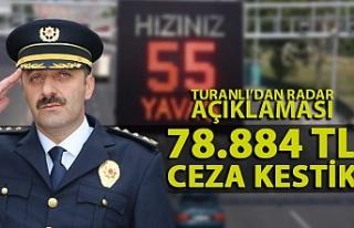Turanlı'dan radar cezası açıklaması