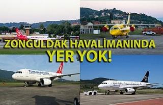 Zonguldak Havalimanı'nda uçak yoğunluğu