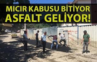 Zonguldak merkez mahallelerinde asfalt çalışması...