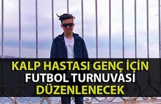 Zonguldak'ta kalp hastası genç için futbol...