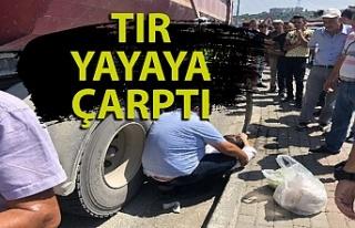 Zonguldak'ta tır yayaya çarptı: 1 yaralı...