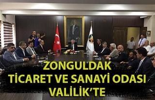 Zonguldak TSO Yönetiminden Vali Bektaş'a ziyaret
