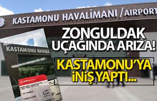 Zonguldak uçağı arızalandı! Kastamonu'ya...