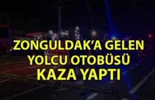 Zonguldak'a gelen yolcu otobüsü kaza yaptı: 2...