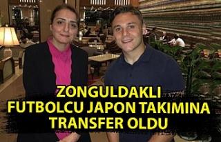 Zonguldaklı futbolcu Japon takımına transfer oldu