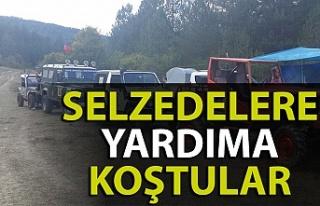 Zonguldaklı Off-Road tutkunları selzedelere yardıma...