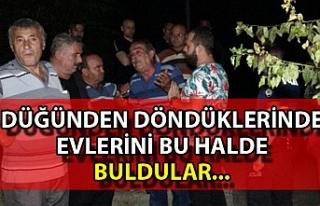 Zonguldak'ta bir aile düğünden döndüklerinde...
