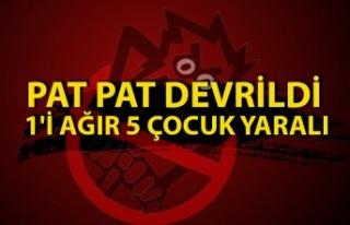 Düzce'de Pat Pat Devrildi Açıklaması 1'İ...