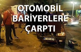 Ereğli'de otomobil bariyerlere çarptı: 1 yaralı